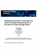 Role and Value of Energy Storage Systems in the UK