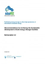 Recommendations for furthering the Sustainable Development of Bulk Energy Storage Facilities